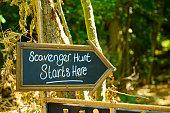 Scavnger hunt game signage