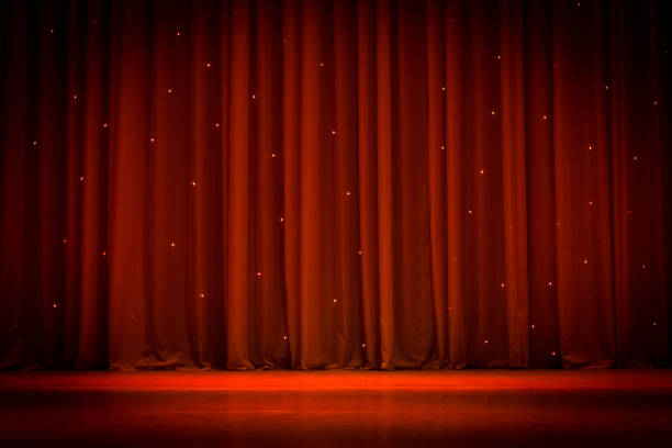 scene, a curtain - stage performance space stock pictures, royalty-free photos & images