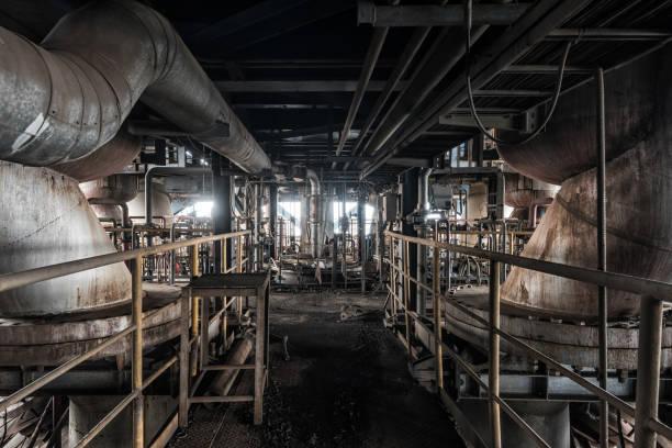Szene und Details eines verlassenen Stahlofenbaus – Foto