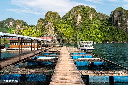 istock Scene at Halong Bay in Vietnam - Pearl Farm 1299474236
