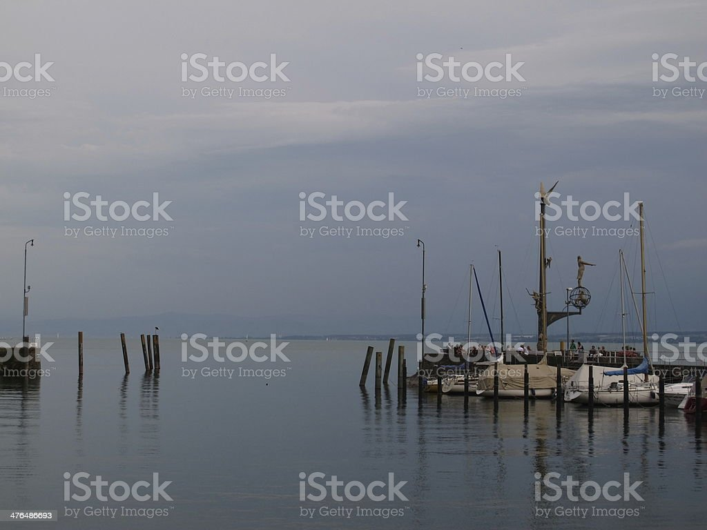 Scene at lake Bodensee royalty-free stock photo