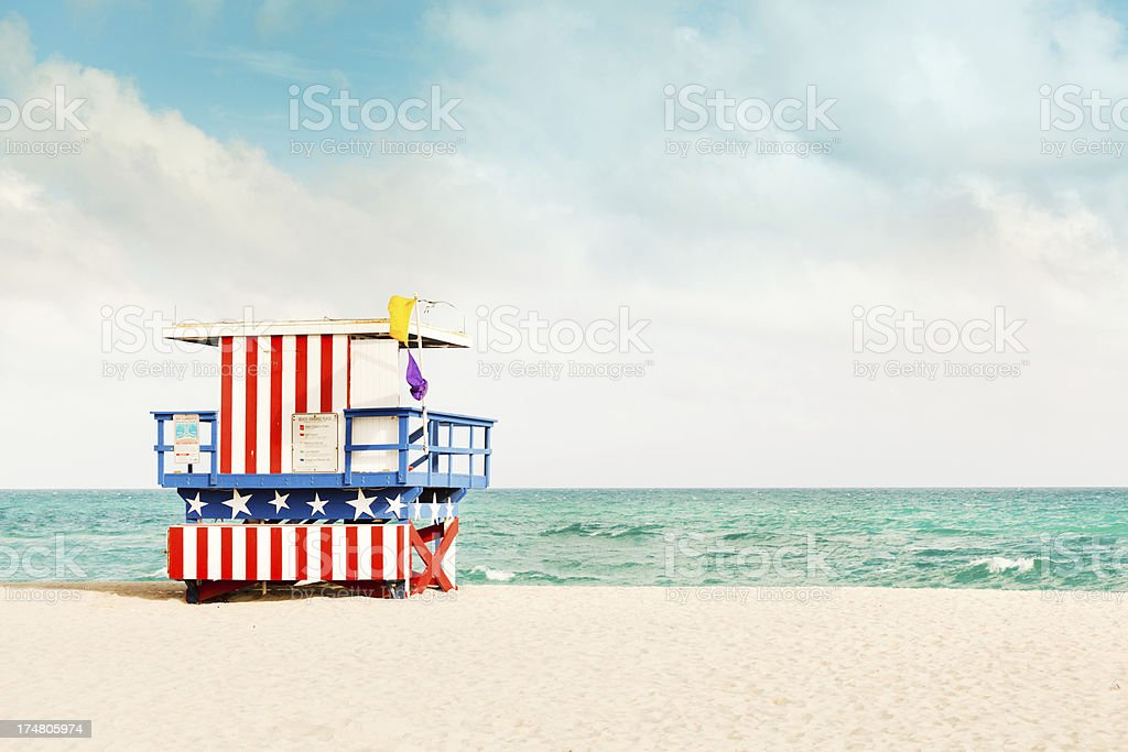 Scena na tropikalnej plaży South Beach Miami, Floryda, USA Hz – zdjęcie
