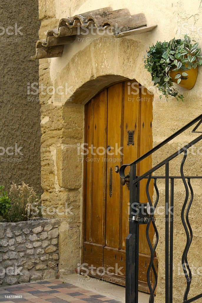 Scene from a small old French village royalty-free stock photo