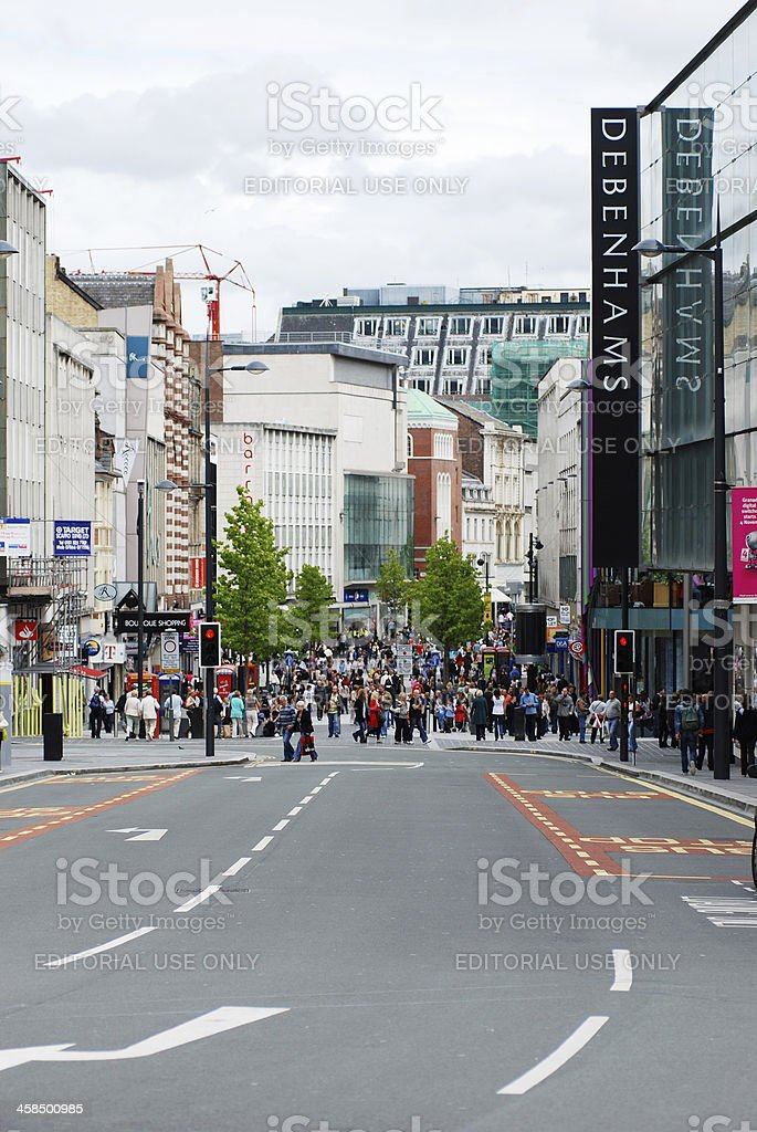 Scene From Lord Street Liverpool City Centre Stock Photo - Download