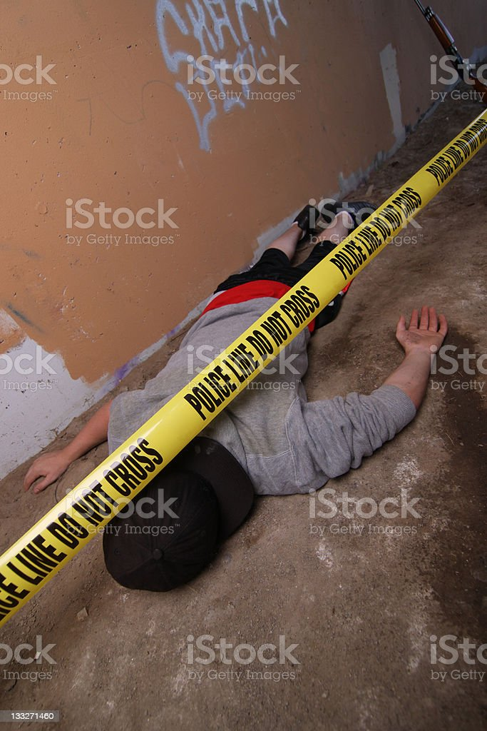 Scene of a crime royalty-free stock photo