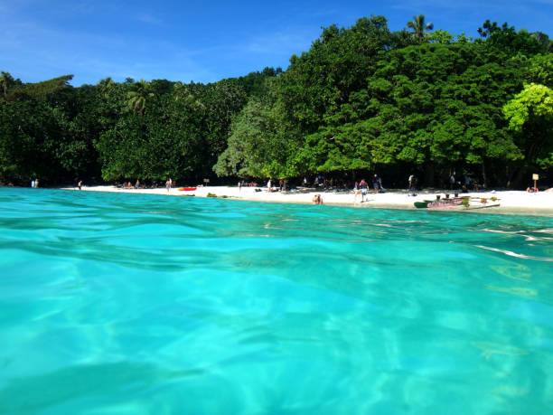 Scene of Champagne Bay, Espiritu Santo, Vanuatu. Scene of Champagne Bay, Espiritu Santo, Vanuatu. vanuatu stock pictures, royalty-free photos & images