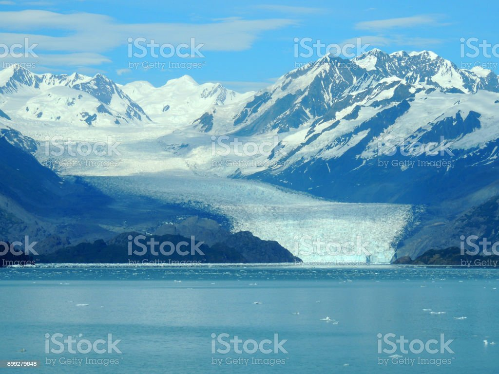 Scene of College Fjord, Alaska. stock photo