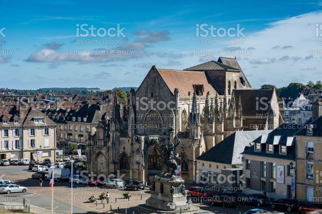 Scene of Falaise, France stock photo