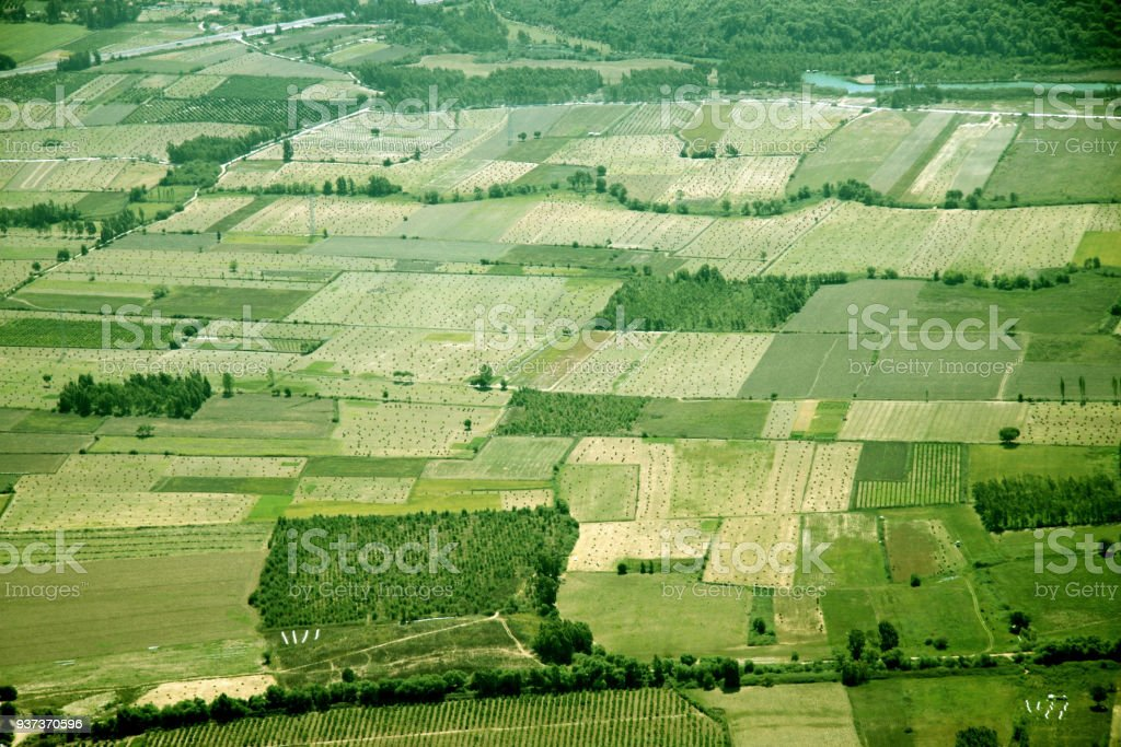 Scene of fields stock photo