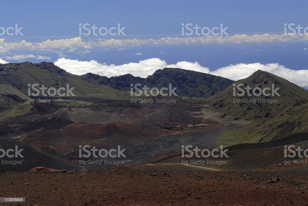 Scene of Haleakala National Park royalty-free stock photo