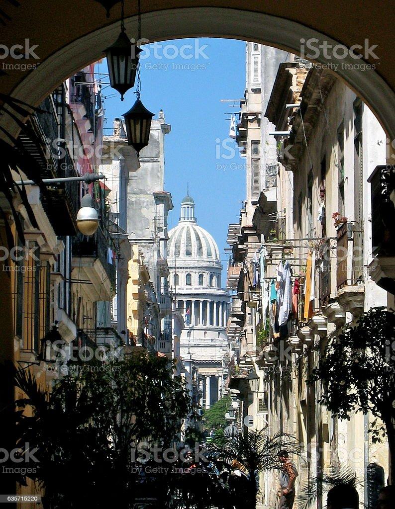 Scene of Havana Cuba royalty-free stock photo