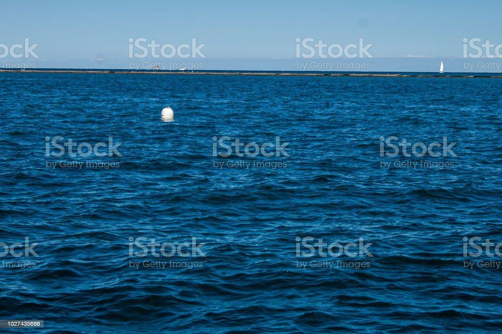 Scene of Lake Michigan stock photo