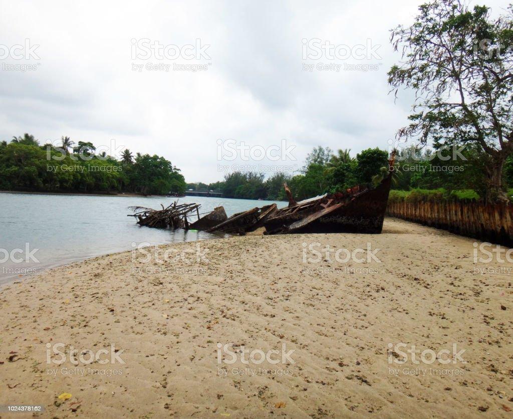 Szene von Luganville, Espiritu Santo, Vanuatu - Lizenzfrei Anlegestelle Stock-Foto