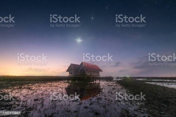 Photo of Scene of milkyway galaxy in the sky and background