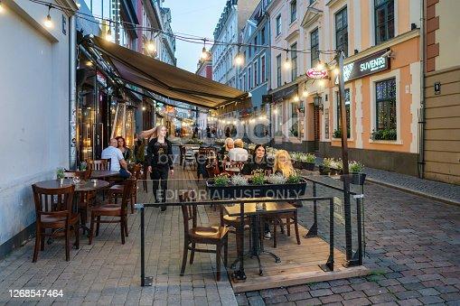 istock Scene of Old Riga on a summer evening 1268547464