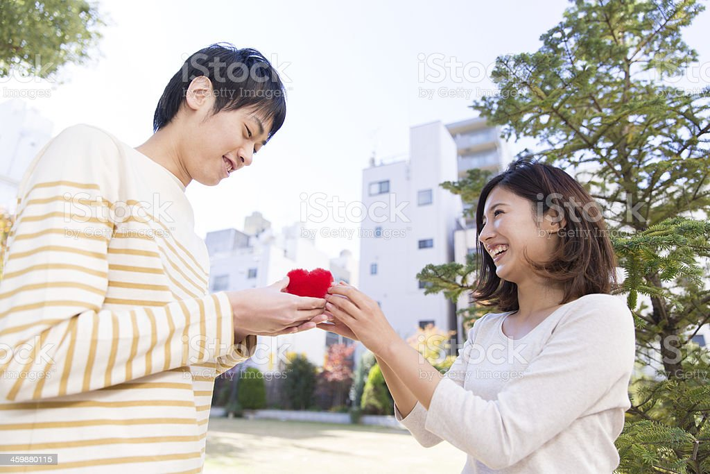 Scene of propose with love stock photo