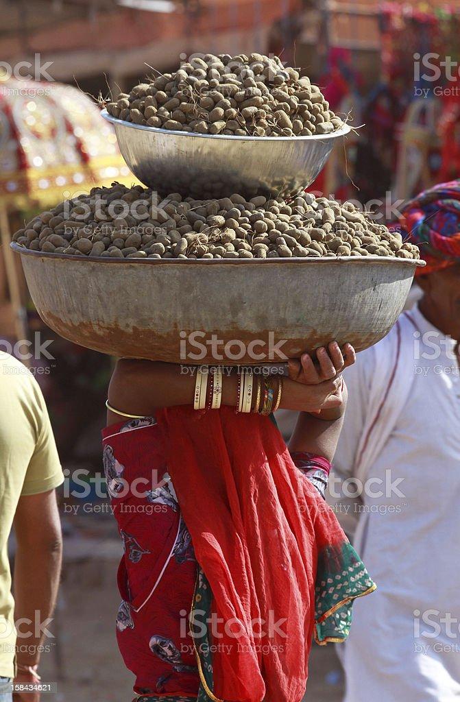 Scene of Pushkar Fair royalty-free stock photo