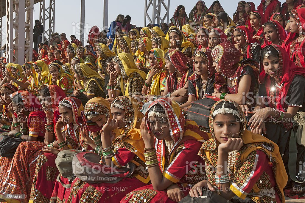 Scene of Pushkar Fair stock photo