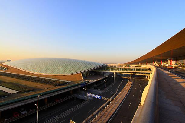 Szene von T3 Flughafen Gebäude Parken Look in Peking – Foto