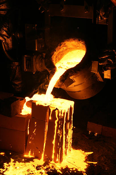 Liquide en fusion industrie sidérurgique - Photo