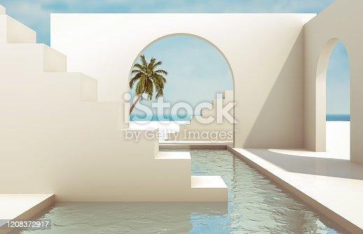 3D render background.