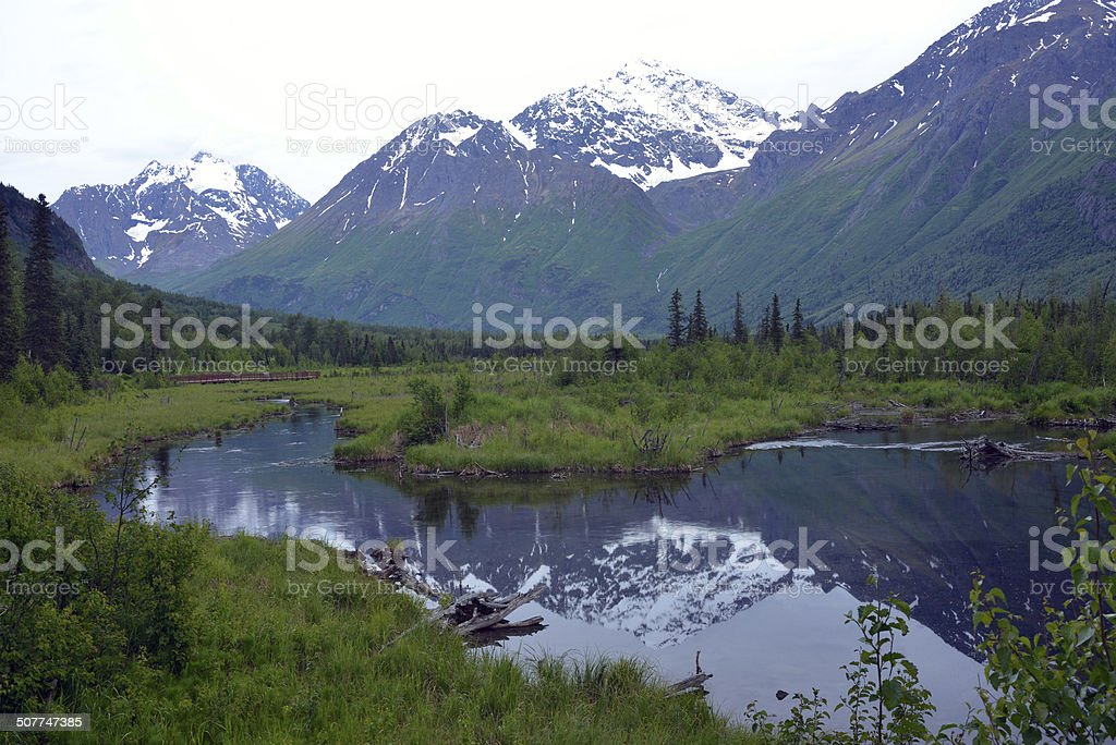 Scenery at Eagle River Nature Center stock photo