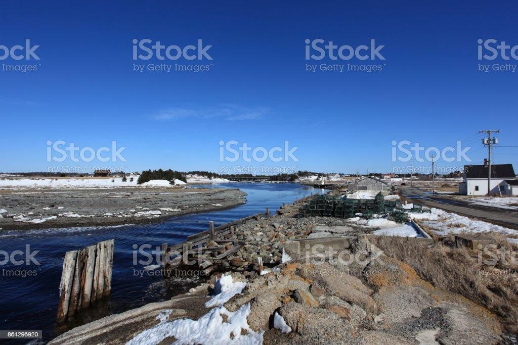 Scenery at Salmon River Nova Scotia, Canada royalty-free stock photo