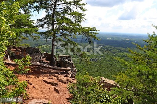 Scenery at and from the summit of Crowders Mountain, North Carolina.
