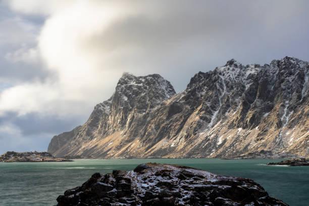 Bjornsand Beach sınırlarındaki manzara stok fotoğrafı