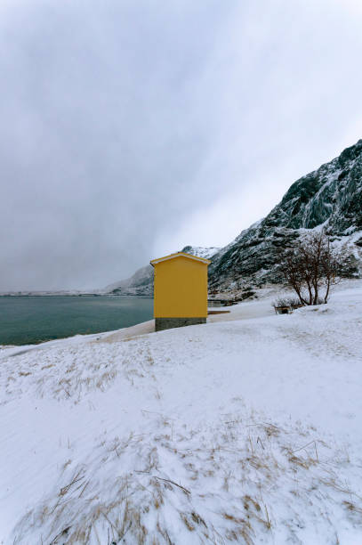 Scenery in Bjornsand Beach stock photo