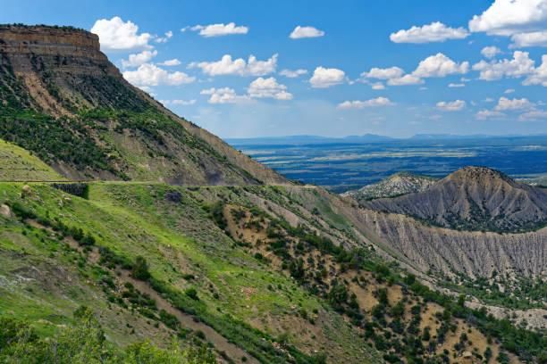 Scenery in Mesa Verde National Park stock photo