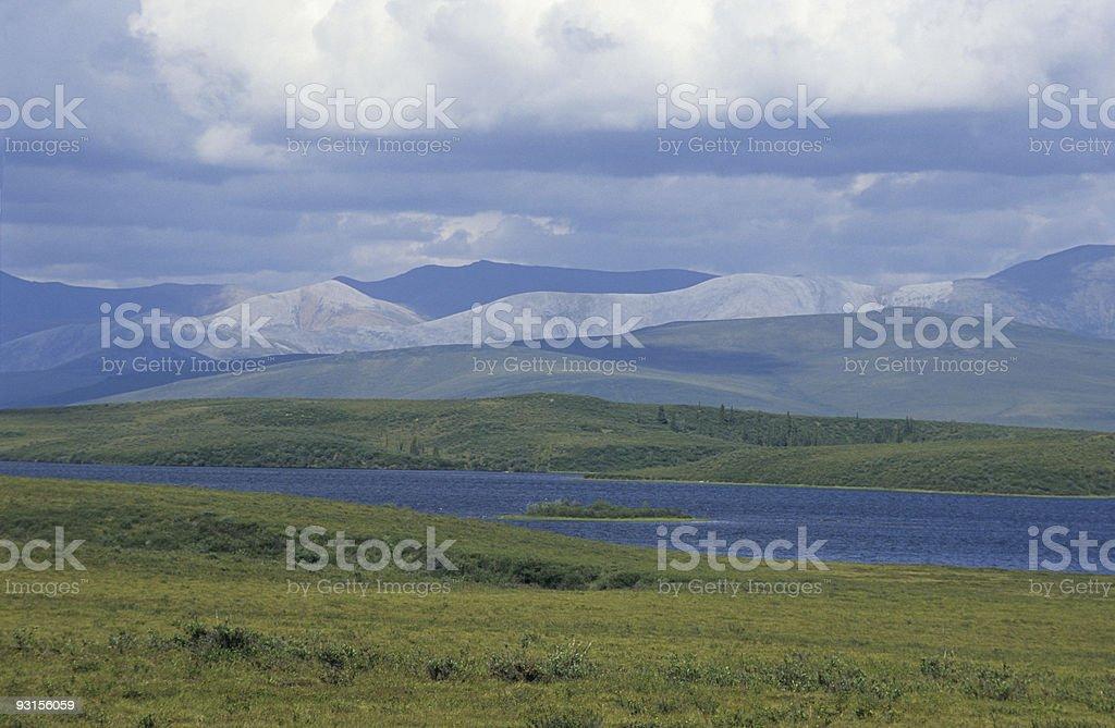 Scenery in North Yukon stock photo