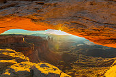 Scenery in Bryce Canyon National Park, under warm sunrise light,USA