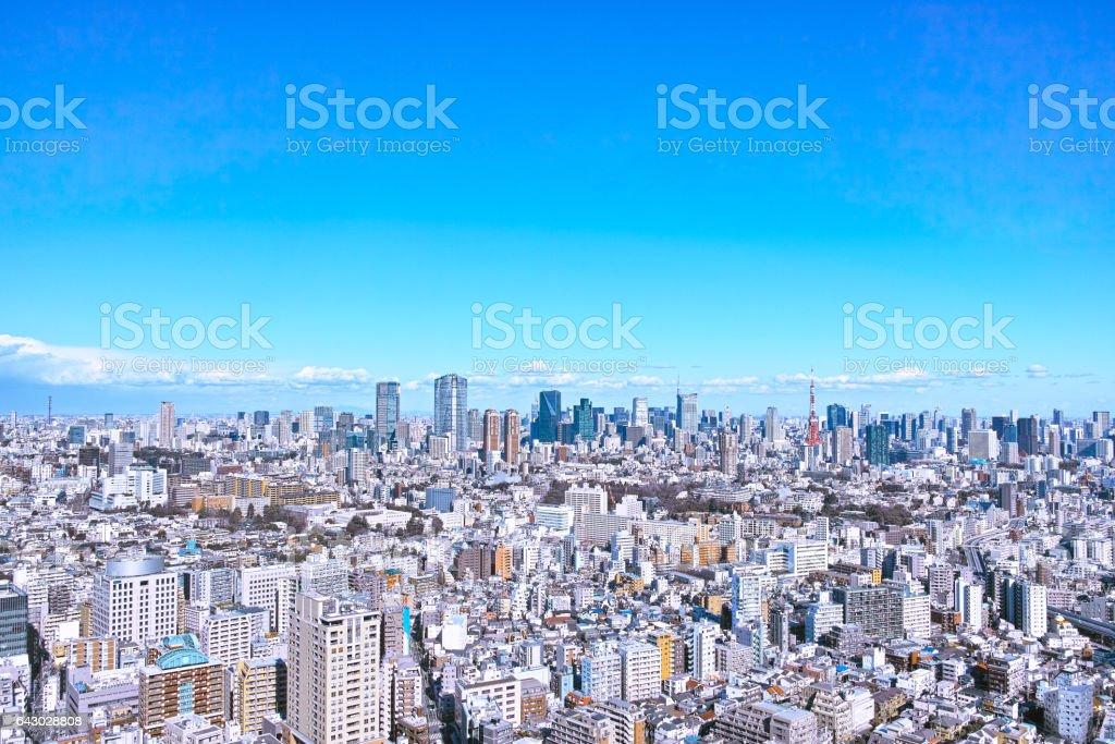 Scenery in Tokyo stock photo