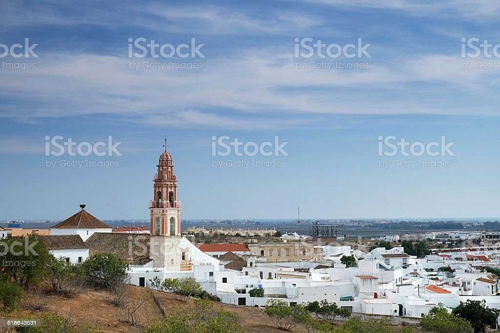 Scenery of Ayamonte in Spain stock photo