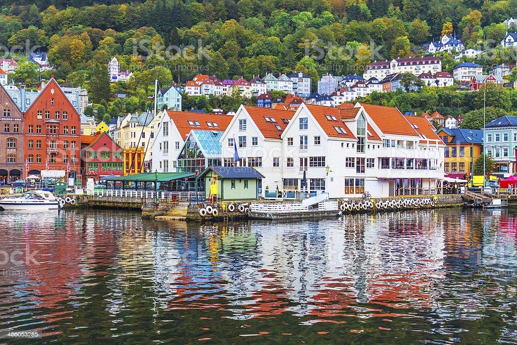 Scenery of Bergen, Norway stock photo