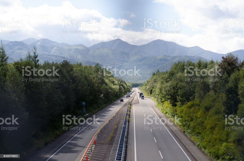 Scenery of highway stock photo