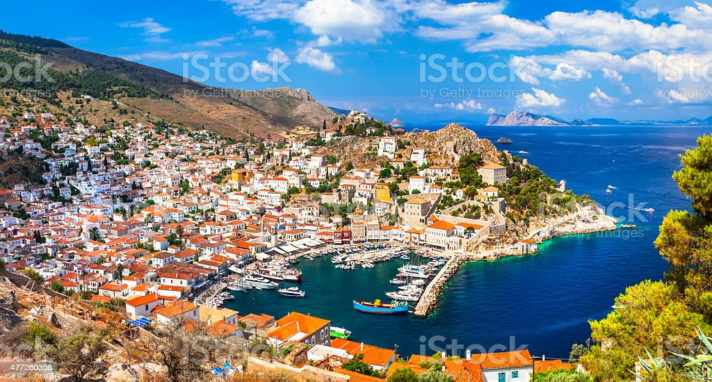 Scenery Of Hydra Island,Greece. stock photo