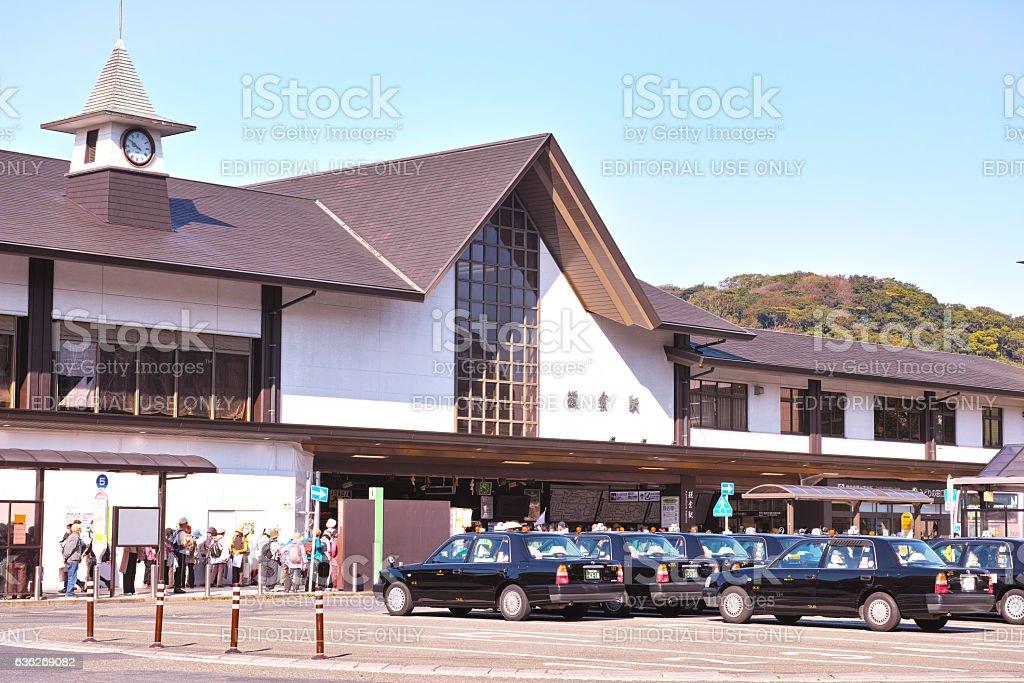 Scenery of Kamakura Station east exit stock photo