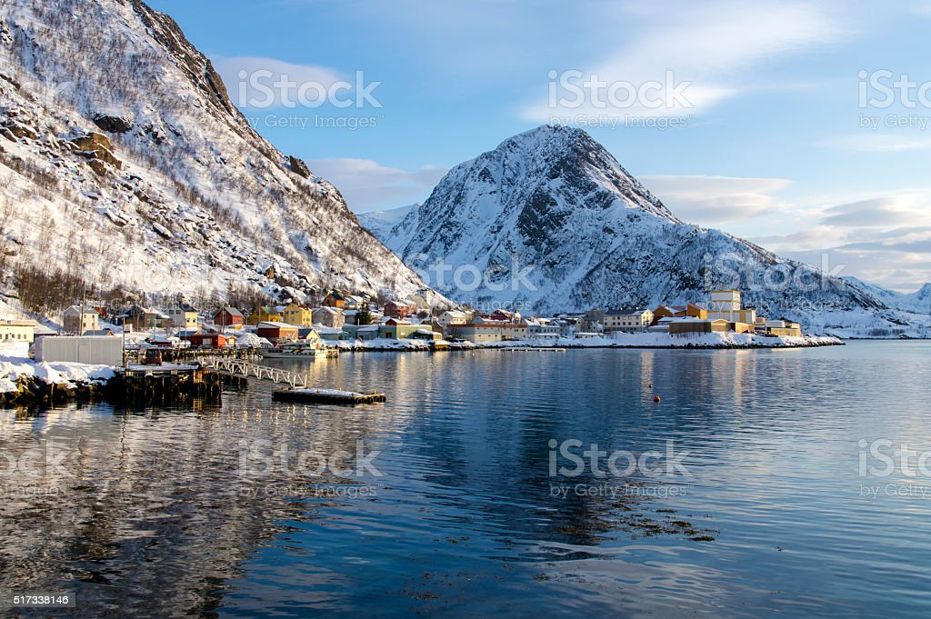 Scenery of Oksfjord stock photo