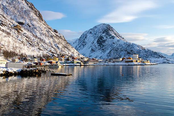 Scenery of Oksfjord stok fotoğrafı