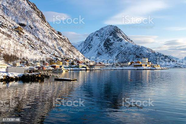 Scenery Of Oksfjord Stock Photo - Download Image Now