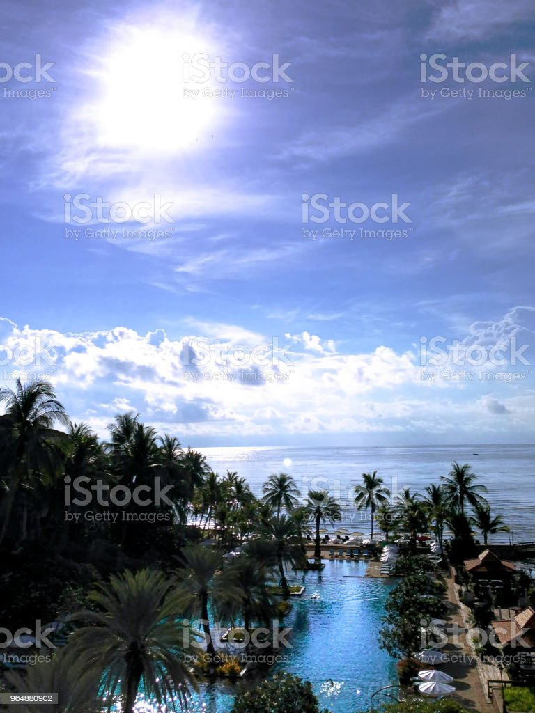 Scenery of Relaxing Area at the Resort royalty-free stock photo