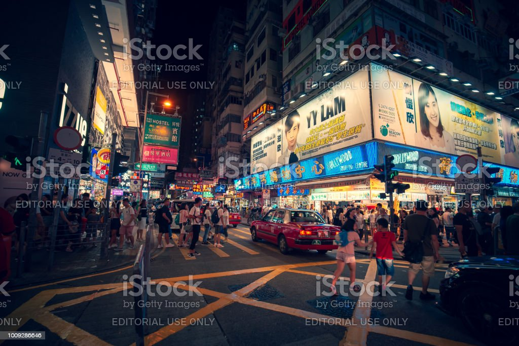 Scenery of SAI YEUNG CHOI STREET SOUTH, Tourists and Street...