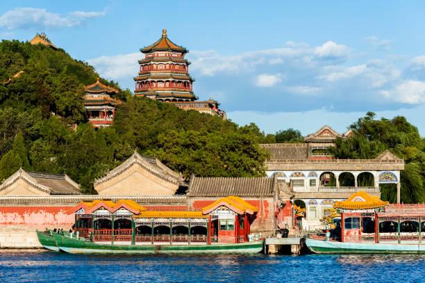 景色の夏の宮殿の太陽の下で - 北京 ストックフォトと画像