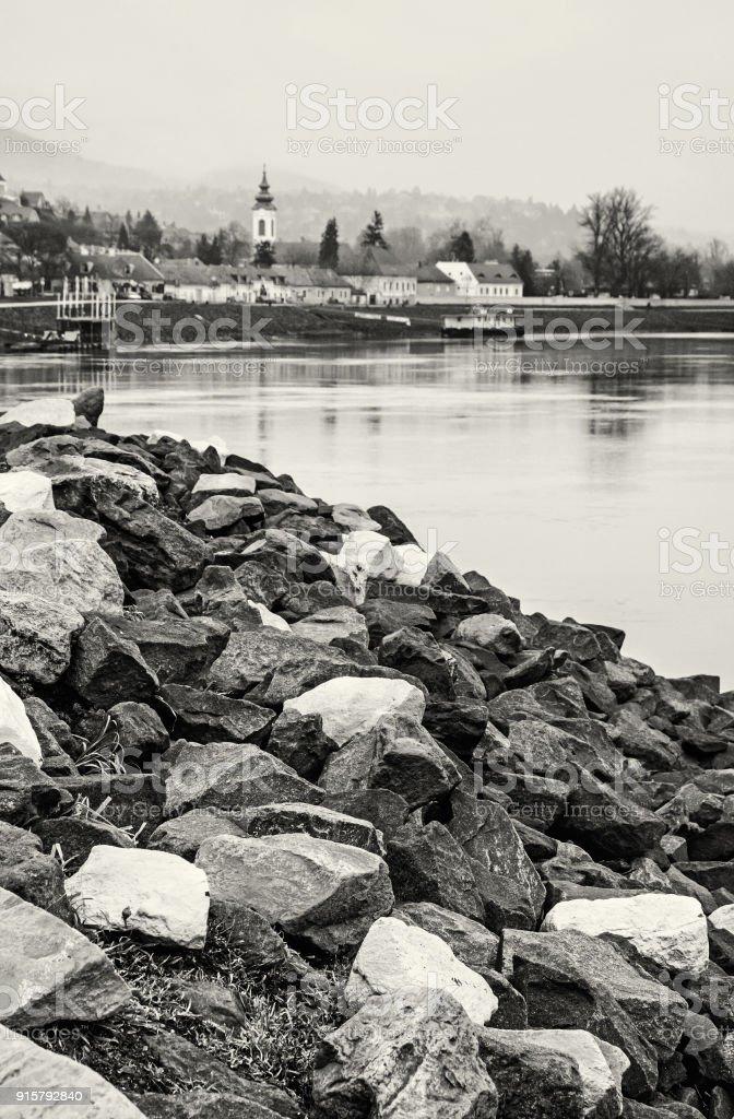 Scenery of Szentendre, Hungary, colorless stock photo