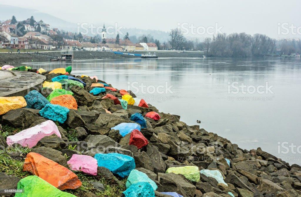 샌 탠 드레, 헝가리의 풍경 - 로열티 프리 0명 스톡 사진