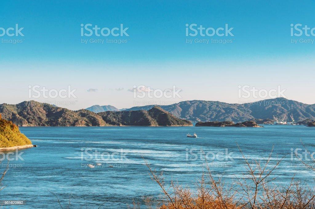 Scenery of the Seto Inland Sea stock photo