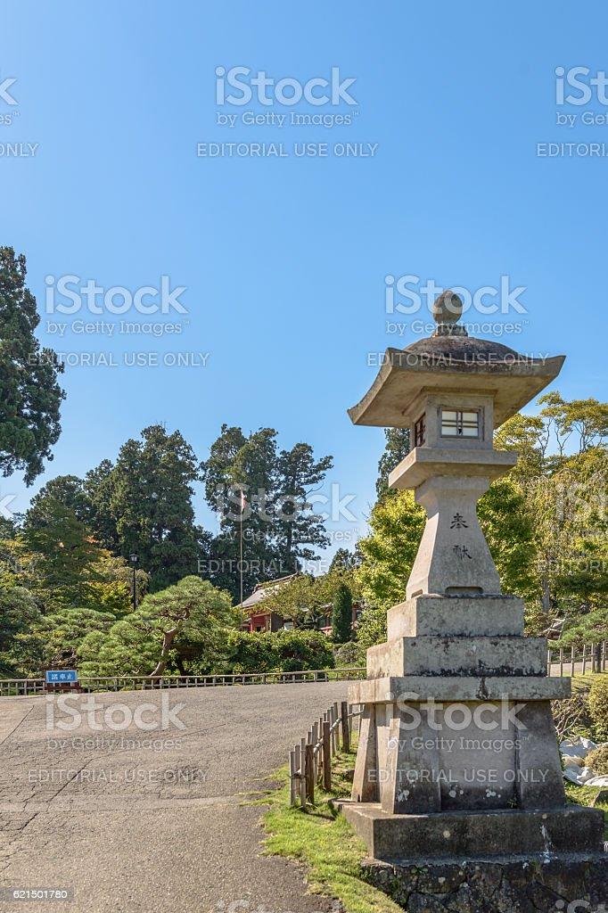 Scenery of the Shiogama jinja shrine Lizenzfreies stock-foto