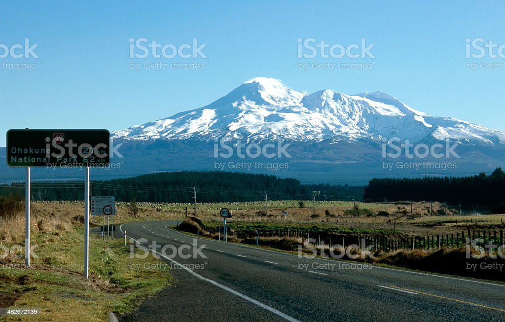 scenery shot of an active volcano stock photo